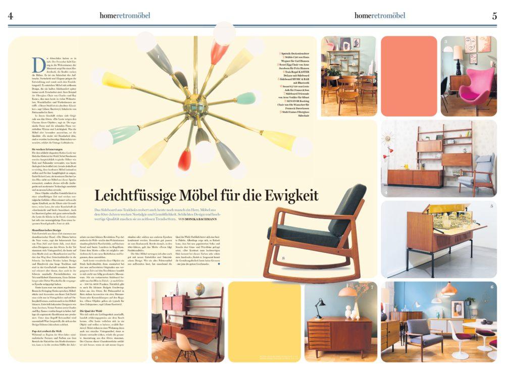 Beilage Home, Tages Anzeiger, Wohnen 60er-Jahre, Bachmann Kommunikation